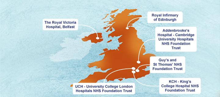 Map Of Uk Hospitals.Participate Vaciriss Trial