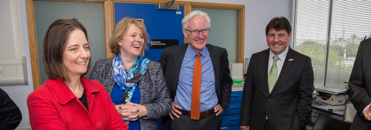 A group of MPs from the science and technology select committee on a visit to the St Thomas' CRF
