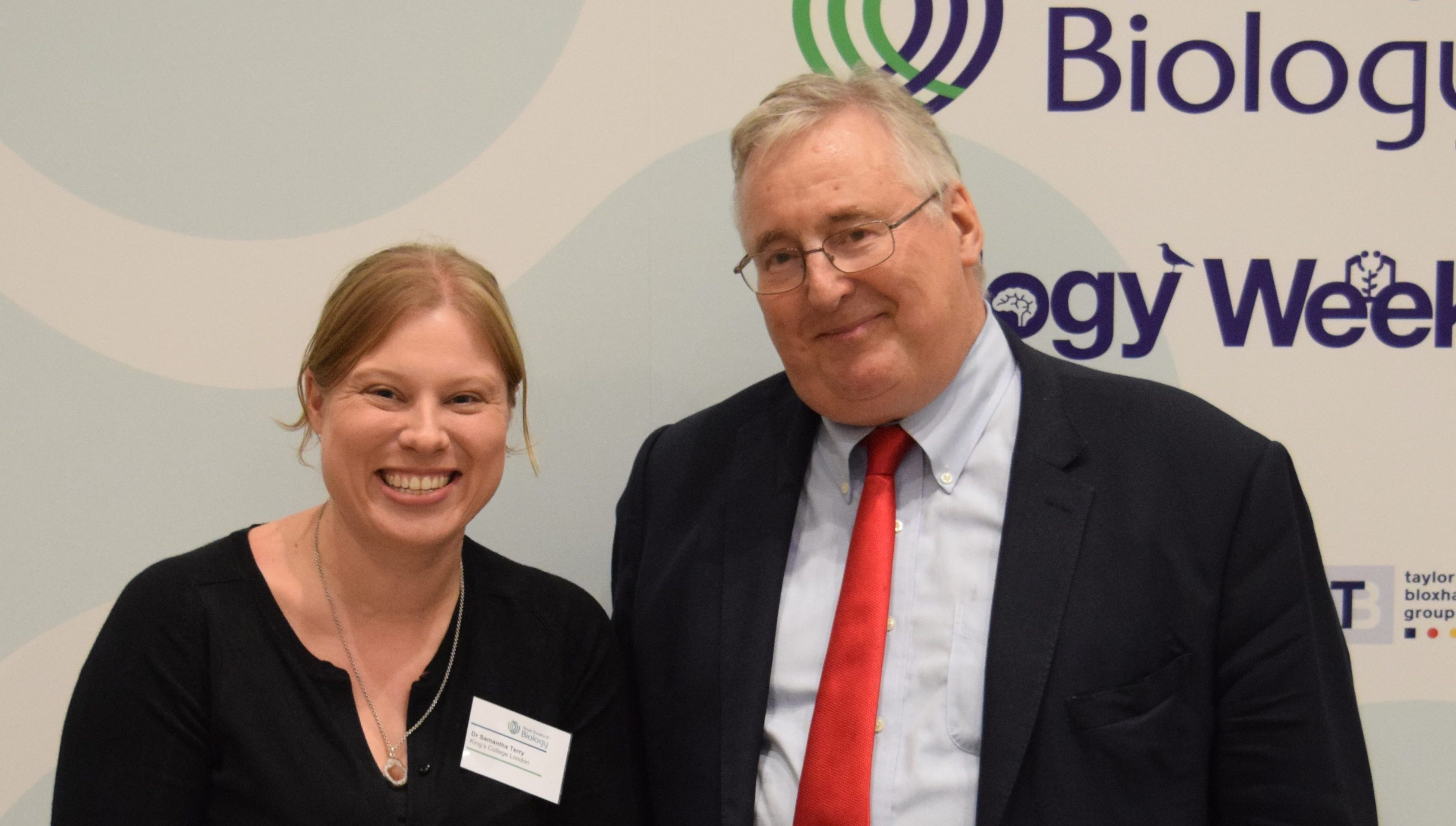 Dr Sam Terry and Stephen Benn at the RSB Awards