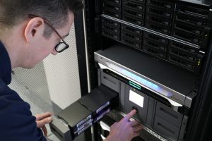 Ulrich in our Genomics Research Platform with their server