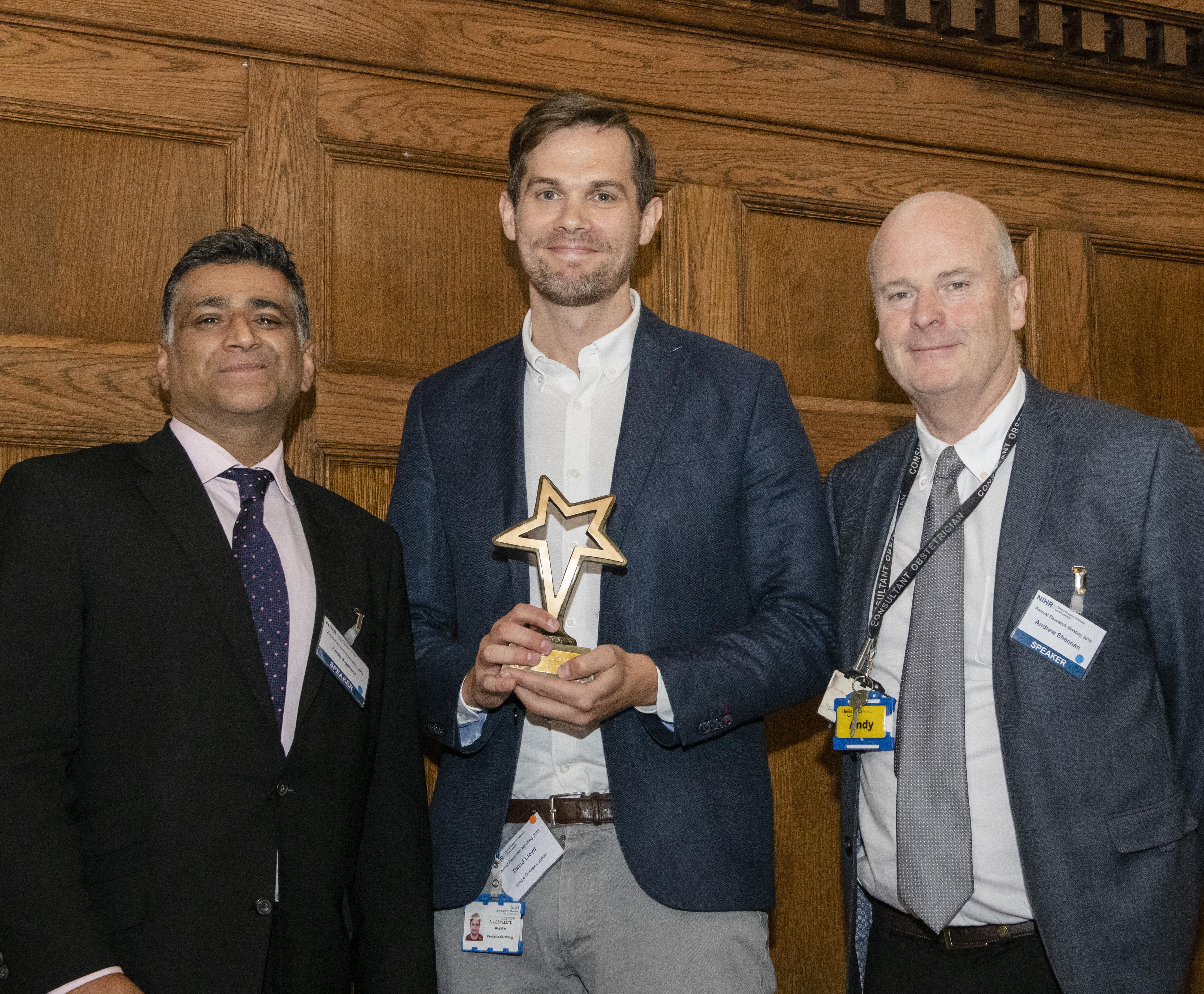 RI award - l-r Dr Kosh Agarwal_Dr David Lloyd_Prof Andrew Shennan