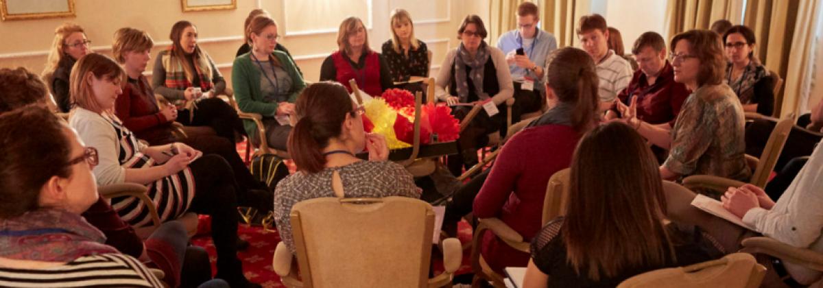 people engaging in group talks