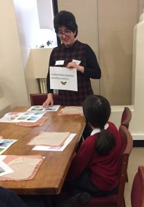 Madgalena discusses EB with the children