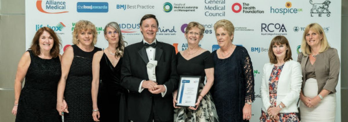 The BUMPES team with their BMJ award for Research Paper of the Year 2018