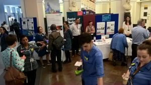 Patients and staff celebrating international clinical trials day