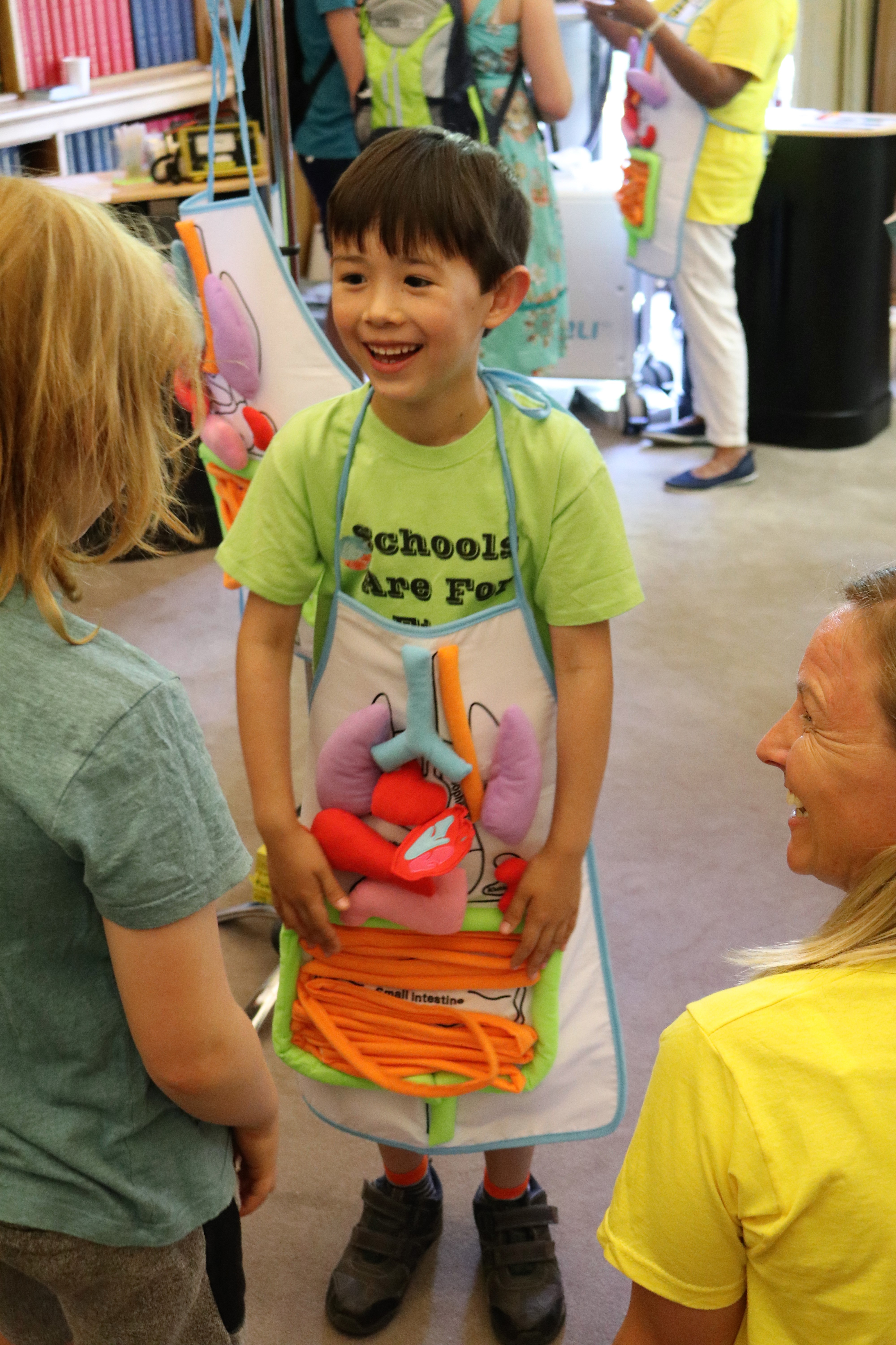 Child at Summer science exhibition