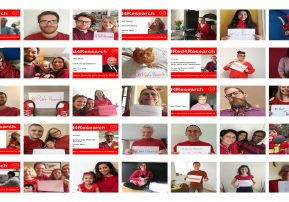 Our staff go #Red4Research in a show of support for COVID-19 research