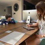 2020 Summer School participant Bella and her brother taking part in a mock clinical trial at home
